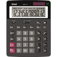 Калькулятор настольный UNIEL UD-11, 12 разрядный, размер 173*106*26 мм