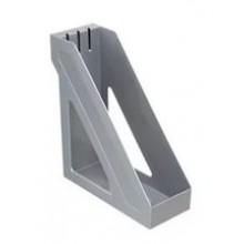 Лоток вертикальный, серый металлик, БАЗИС