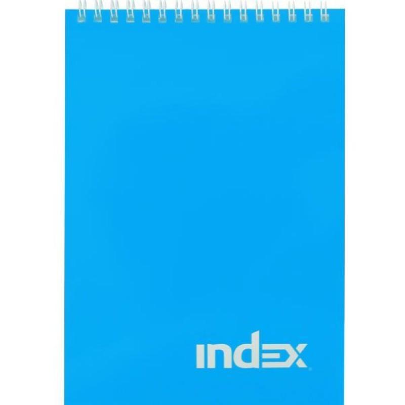 Блокнот, А7, 40л.,клетка, на гребне, ламинир. обложка. INDEX