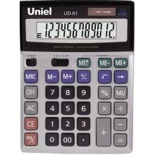 Калькулятор настольный UNIEL UF-62, 14 разрядный, размер 208*154*43 мм