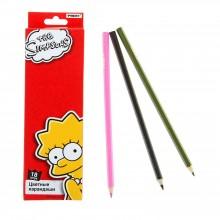 """Карандаши цветные, 18 цв. в наборе, The Simpsons"""" в картонной коробке с европодвесом"""