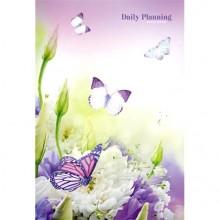 Ежедневник недат.,А-5 , 112 л, Чудесные бабочки