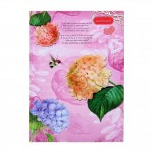 Записная книжка, А5, 80л, Цветы и Колибри
