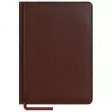 Записная книжка, А5, 160л, кожзам, коричневый