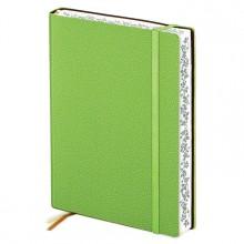 Записная книжка, А5, 160л, кожзам мягкий, зелёный