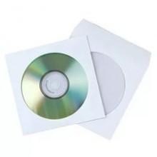 Конверты для дисков 25шт.бел. с окном