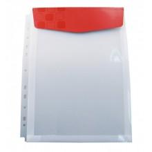 Конверт папка (Папка -уголок) А4 0,18мм вертикаль. с перфорац.. с клап.