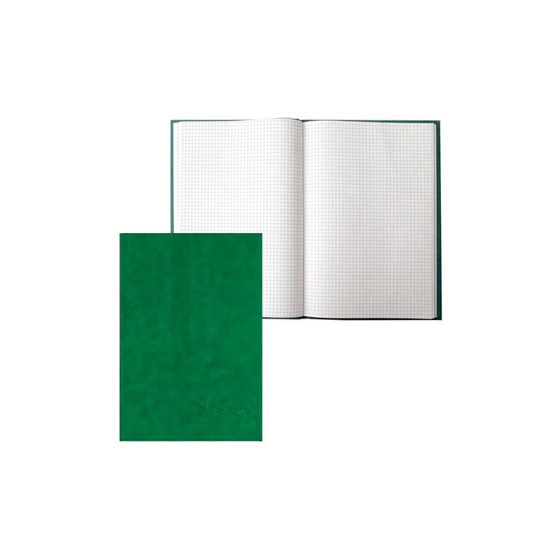 Тетрадь А4, 96л., клетка, бумвинил, зелёный