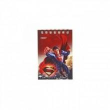 Блокнот, А7, 40л.,клетка, евроспираль, Супермен, PROFF