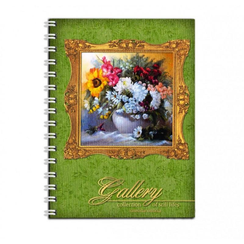 Записная книжка А6, 80л., на гребне, Цветы-Картина
