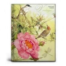 Записная книжка А7, 64л., Птицы и цветы