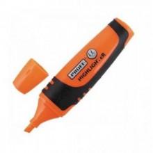 Маркер текстовой, оранжевый, скошенный наконечник, 1-5 мм, прорез.полупр. корпус