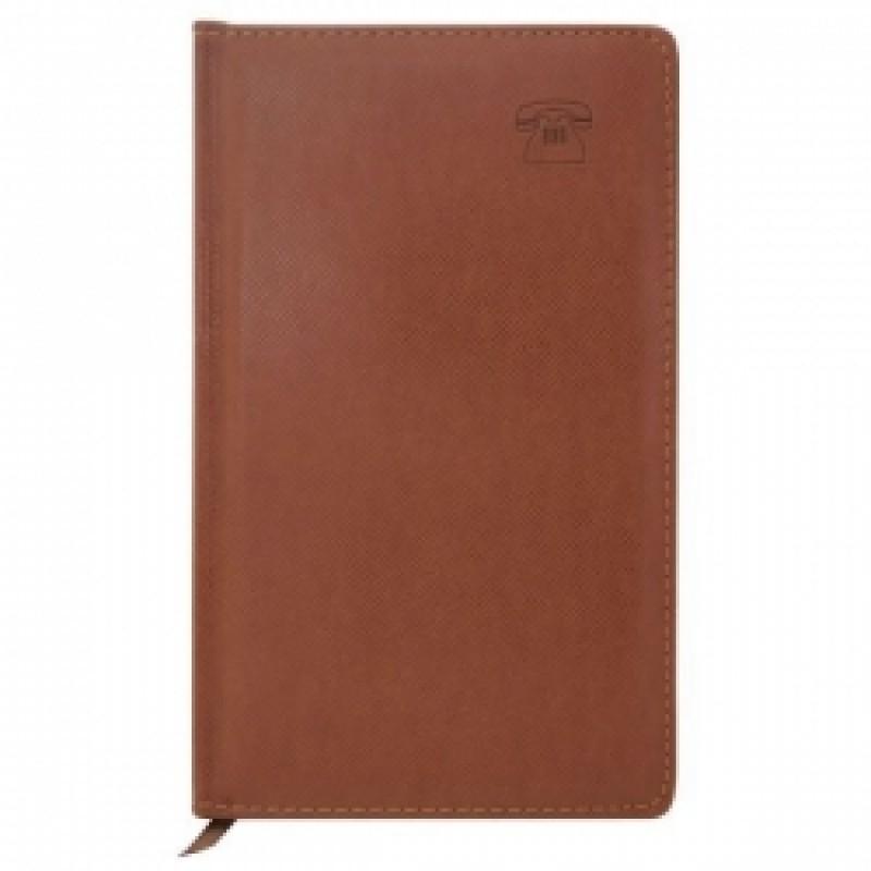 Телефонно-адресная книга 130х210, GREEENWICH, коричневый, ERICH KRAUSE