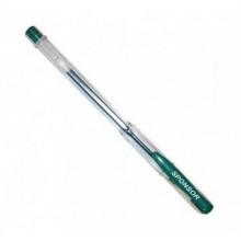 Ручка гелевая, зелёная, 0.5 мм, прозр. корпус, колпачёк.SPONSOR