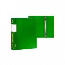 Папка на 4 кольцах, А4, диам 16мм, зелёная,  0,60мм