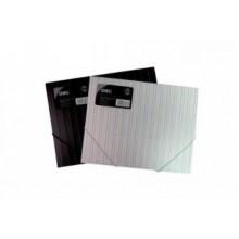 Папка на резинках, А4, 0,45мм, черный и белый, DELI