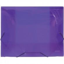 Папка на резинках,пластик., А4 , 20мм, фиолетовая полупразр., 0.70мм