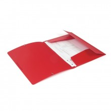 Папка на резинках,пластик., А4 , красная, 0,45мм