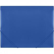 Папка на резинках,пластик., А4 , синяя, 0,50мм