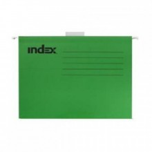 Подвесной файл, А4, зелёный,с табулятором, INDEX