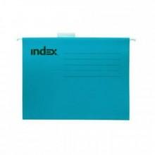 Подвесной файл, А4, синий,с табулятором, INDEX