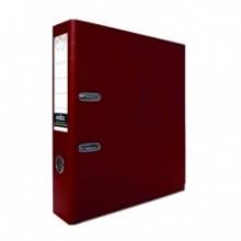Регистратор, 8см, бордовый, А4, ПВХ - двустор., 1300 гр, метал. оконт., INDEX