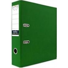 Регистратор, 8см, зелёный, А4, ПВХ - двустор., 1300 гр, метал. оконт., INDEX