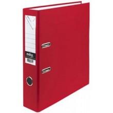 Регистратор, 8см, красный, А4, ПВХ - двустор., 1300 гр, метал. оконт., INDEX