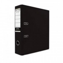 Регистратор, 8см, чёрный, А4, PVC, 1300 гр, метал. оконт., INDEX