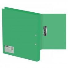 Папка пластиковая Berlingo с боковым зажимом METALLIC, корешок 21 мм, зеленая