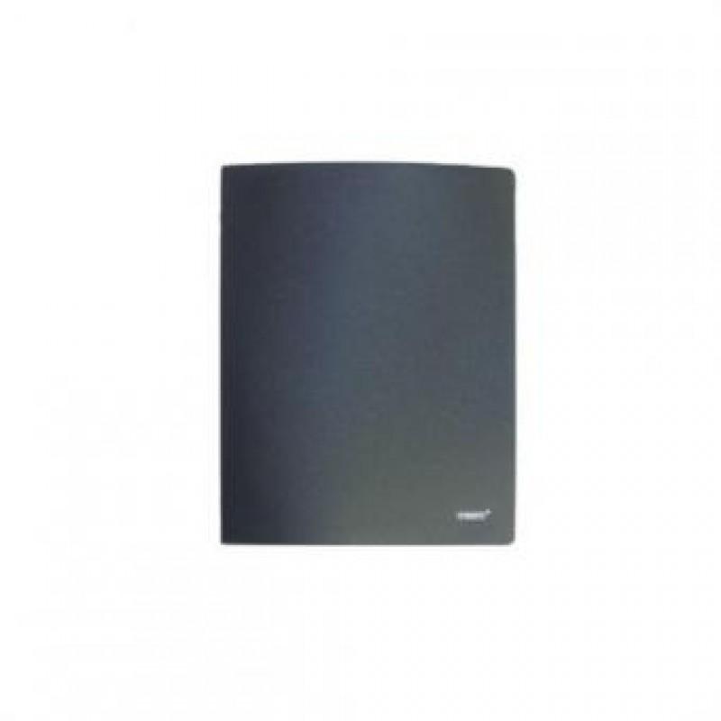 Папка с 10 файлами, чёрная, А4, пластик, 0.45мм