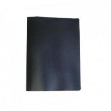 Папка с 40 файлами, чёрная, А4, пластик, 0.45мм