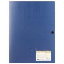 Папка на кнопке А4, с 3 клапанами (8мм) MEGAPOLIS, синий, ERICH KRAUSE