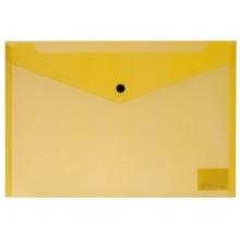 Папка на кнопке, А4, диагональ, NEON, жёлтый, ERICH KRAUSE