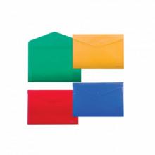 Папка на кнопке, А4, диагональ, плотная, ENVELOPE FOLDER, ассорти, ERICH KRAUSE