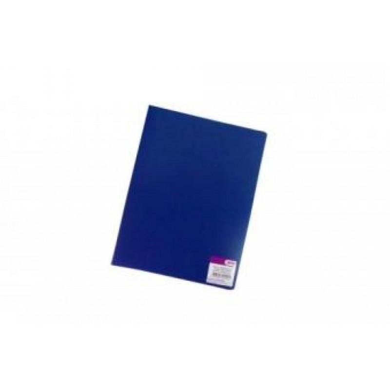Папка с боковым зажимом А4, синяя,  0,35мм