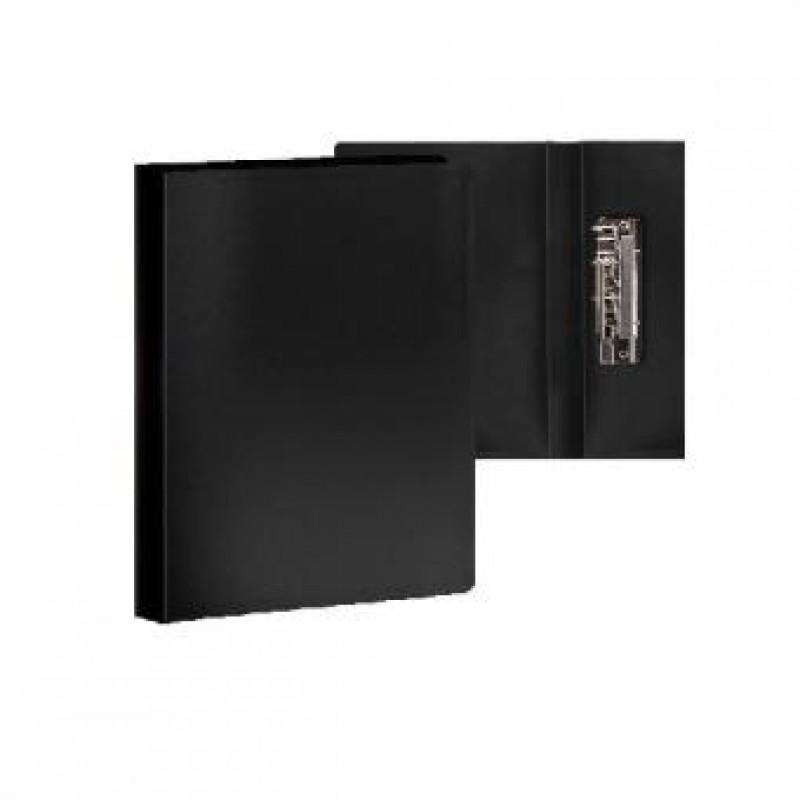 Папка с боковым зажимом А4, чёрная,  0,35мм
