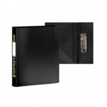 Папка с боковым зажимом и внутр. карманом А4, чёрная,  0,60мм