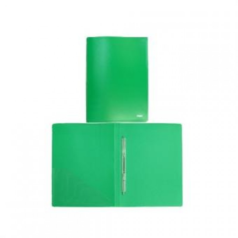Папка с пружинным скоросшивателем,  А4, зелёная, 0,45мм