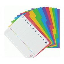 Разделитель картонный, А4, 12 цветов, DELI