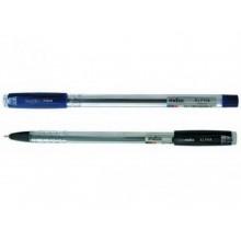 Ручка шариковая,масляная, 0,7мм, синяя, прозр корпус. INDEX