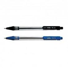 Ручка шариковая,масляная, чёрная, 0,7 мм, автомат, прорезин. INDEX