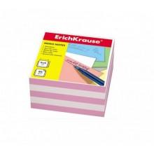 Блок бумаги для записи, 9*9*5, белый-розовый, ERICH KRAUSE