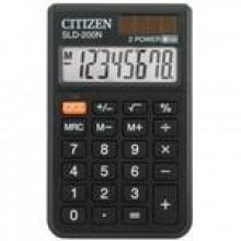 Калькулятор карманный, 8р, двойное питание, 117х70х11 мм, метал. корпус