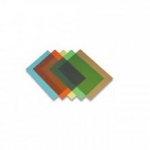 Обложка для переплета, А4, 200 мкм, прозрачно-красная, 100 лист
