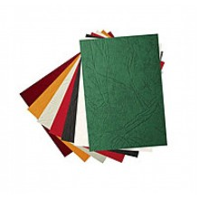 Обложка для переплета, А4, 250 мкм, зелёный, под кожу, 100шт