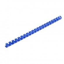 Пружины для переплета пластиковые, 16 мм, цв. синий