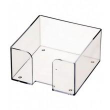 Пластбокс для блока  бумаги для записи 9*9*5,  прозрачный