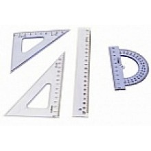 Геометрический набор, 4 предмета, 165,5*73,5*12мм, DELI