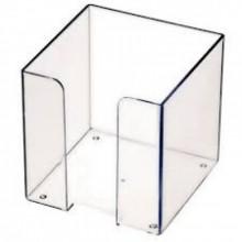 Пластбокс для блока  бумаги для записи 9*9*9,  прозрачный